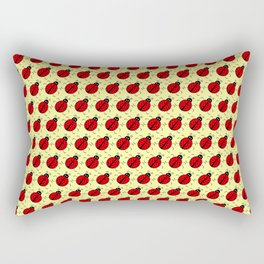 Ladybugs Pattern-Cream Rectangular Pillow