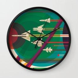 Space Ships Pop Art Vintage Wall Clock