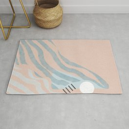 Abstract wave simple moving Rug