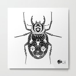 Diaboli Scarabæus - The Devil's Beetle Metal Print