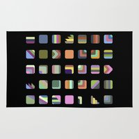 grid Area & Throw Rugs featuring Grid by Bram Myers