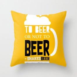 Beer Pun Throw Pillow