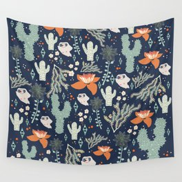 Cactus flora land Wall Tapestry
