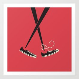 Chopstick Chucks Art Print