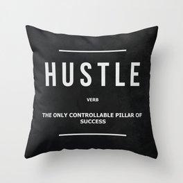 Hustle Verb Motivational Wall Art Entrepreneur Motivation Throw Pillow