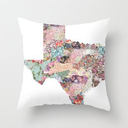 Texas map Throw Pillow