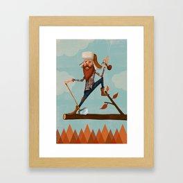 Lumber Jack Framed Art Print