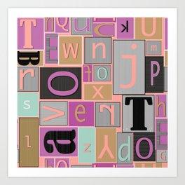 fun bright alphabet jumble Art Print