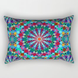 Colorful Geometric Mandala Rectangular Pillow