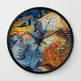 The PITTIE-MIX from our POP YOUR POOCH line Wall Clock