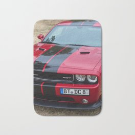 Red Challenger RT Hemi at the 5th US-Carshow, Germany color photograph / photography / poster Bath Mat
