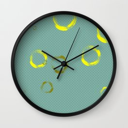 Golden rings Wall Clock