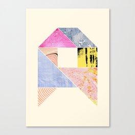 Collaged Tangram Alphabet - A Canvas Print