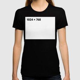 1024 x 768 white panel T-shirt