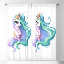 Beautiful unicorn drawing Blackout Curtain