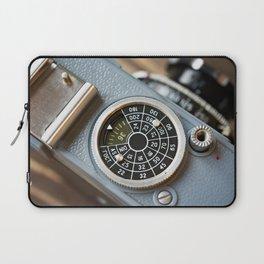 Wheel to set control sensitivity retro camera Laptop Sleeve