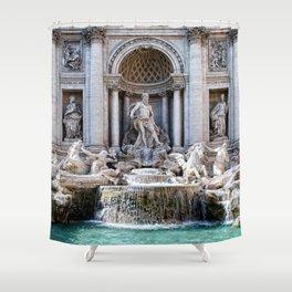 Trevi fountain Shower Curtain