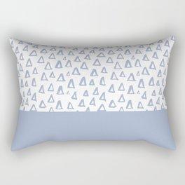 Triangles Light Blue Rectangular Pillow