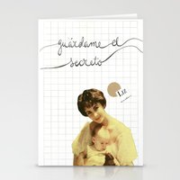 jenny liz rome Stationery Cards featuring liz by Willy Ollero