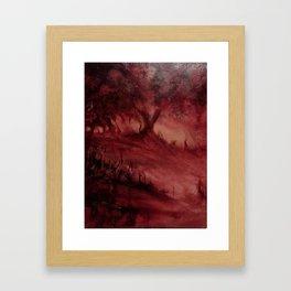 The Red Wood Framed Art Print