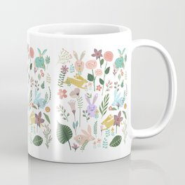 Springtime In The Bunny Garden Of Floral Delights Coffee Mug