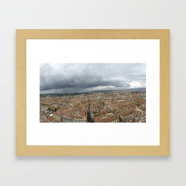 Florence in the Rain Framed Art Print