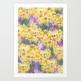 Yellow Daffodil Garden Art Print