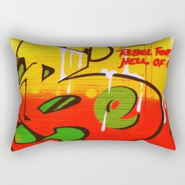 Rebel For the Hell of it Rectangular Pillow