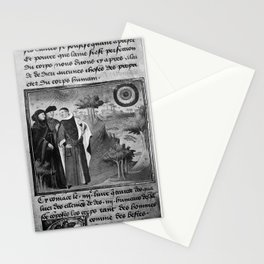 Three doctors attending to a landscape, 15th century. Stationery Cards