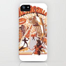 Retro Phonezilla iPhone Case