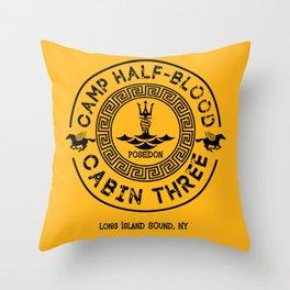 Percy Jackson - Camp Half-Blood - Cabin Three - Poseidon Throw Pillow