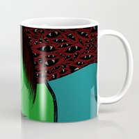scream Mugs featuring Scream by Sabrina Kee