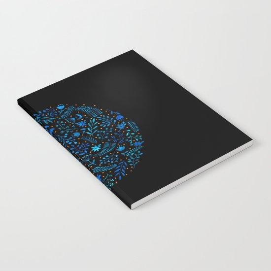 Night autumn pattern Notebook