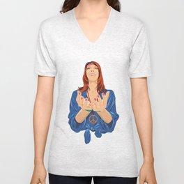 Hippy Girl  Unisex V-Neck