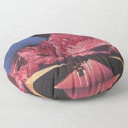 Neon Highway Floor Pillow