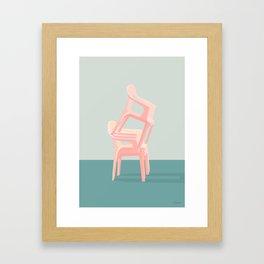 SIDDE HØJT Framed Art Print