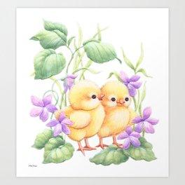 Easter Chicks Art Print