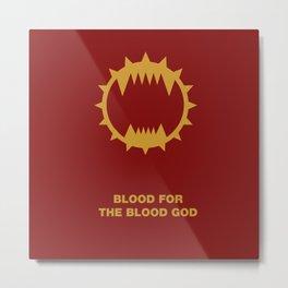 Warhammer 40k World Eaters Minimalist Print Metal Print