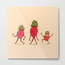 Strawberry Folk Metal Print