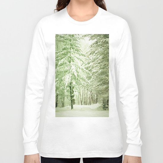 Winter Pine Trees Long Sleeve T-shirt