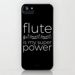 Flute is my super power (kv299) - black iPhone Case