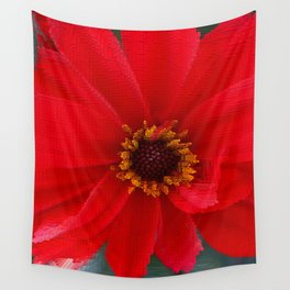 Scarlet Red Wall Tapestry