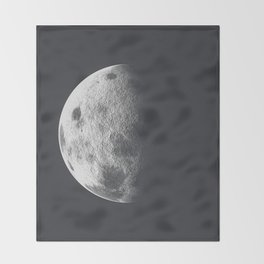Moon Poster Throw Blanket