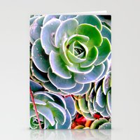 succulent Stationery Cards featuring succulent by natureee