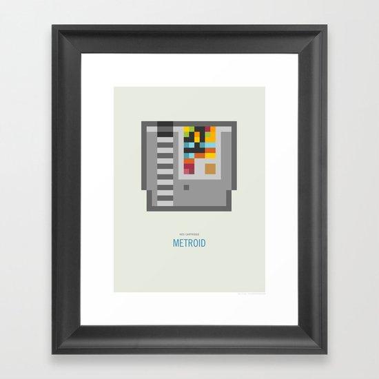 Metroid Cartridge Framed Art Print