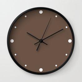 Rich Cocoa (Brown) Color Wall Clock