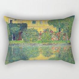 """Gustav Klimt """"Schloss Kammer on the Attersee IV"""" Rectangular Pillow"""
