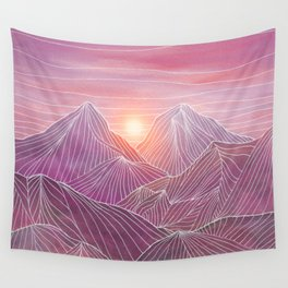 Lines in the mountains 02 Wall Tapestry