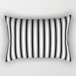 Black and white ticking stripes Rectangular Pillow