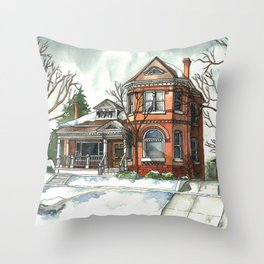 Victorian House in The Avenues Throw Pillow